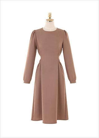 op9970 톤다운된 컬러가 매력적인 차분한 무드의 플레어 롱원피스 dress