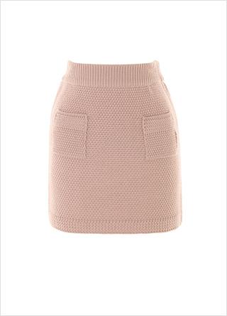 sk4345 몽글몽글한 짜임의 투포켓 니트 미니 스커트 skirt