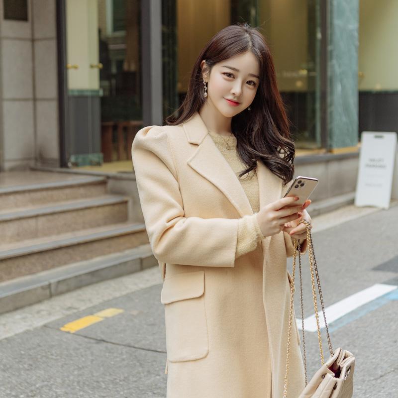 ct1205 소장가치 높은 상큼 컬러의 퍼프소매 탈부착 누빔 베스트 핸드메이드 코트 coat