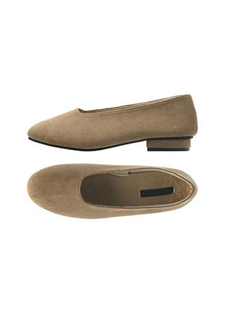 sh2056 폭신하고 부드러운 스웨이드 소재의 털안감 라운드토 플랫 슈즈 shoes