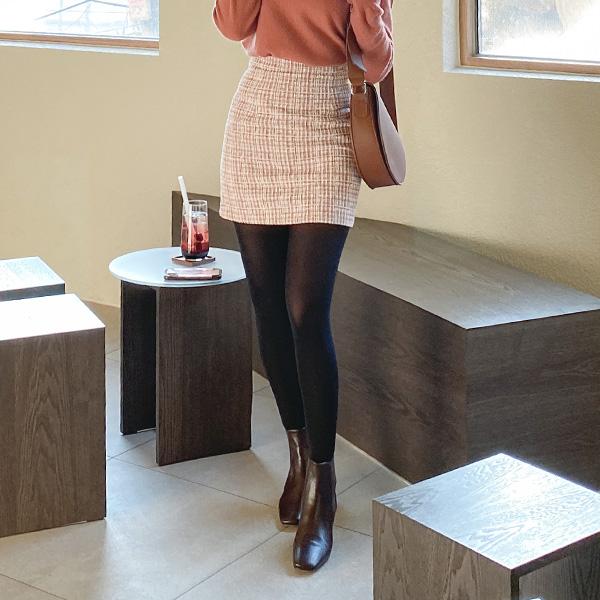 sk4414 감각적인 배색의 완벽 슬림핏 하이웨스트 H라인 트위드 미니스커트 skirt