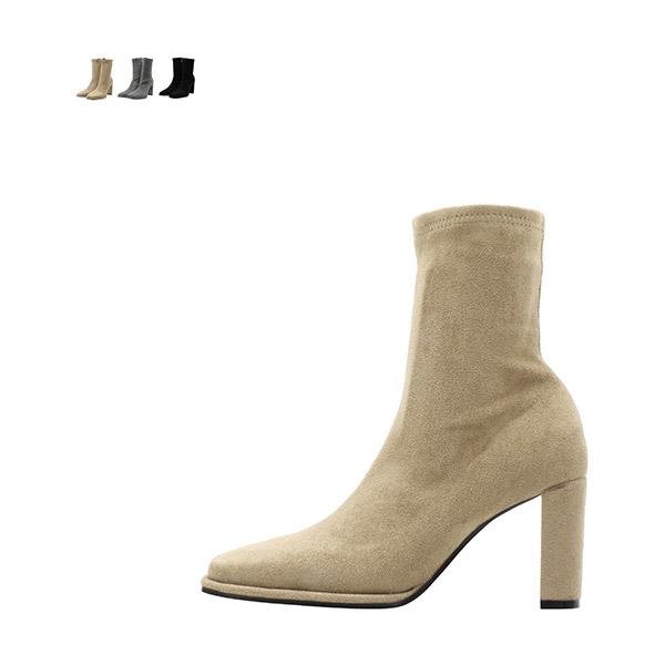 sh2072 가보시가 더해져 더욱 안정적인 스퀘어토 스웨이드 삭스부츠 shoes