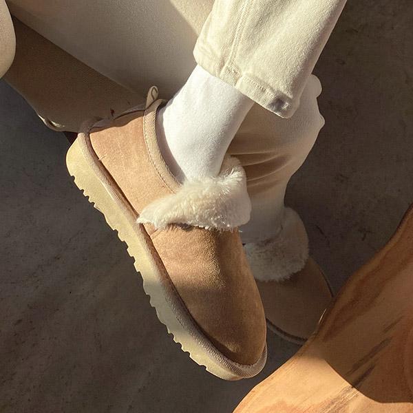 sh2093 부드럽고 따뜻한 퍼 안감으로 완성된 스웨이드 숏 어그 단화 슈즈 shoes