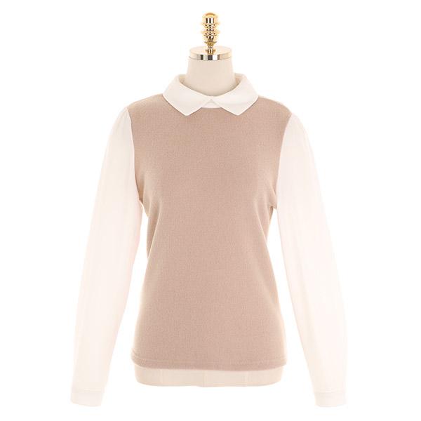 bs5534 따뜻한 기모 소재로 완성된 배색 카라 블라우스 blouse