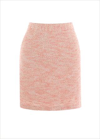 sk4460 상큼한 컬러 믹스의 트위드 H라인 미니 스커트 skirt