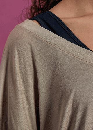 ts2292 SKULLPIG loose fit v-neck cover up