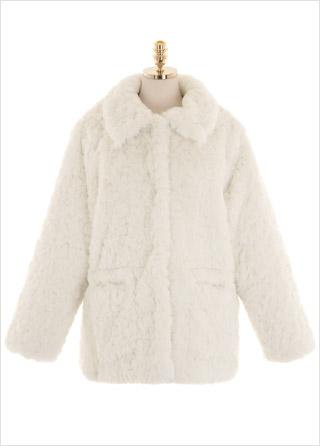 jk1376 포근하고 러블리한 무드의 루즈핏 양털 카라 자켓 jacket