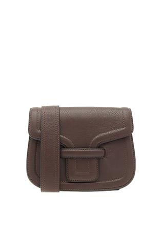 bg1205 클래식한 디자인의 브라운컬러 라운드스퀘어 박스 숄더백 bag