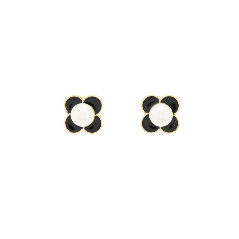 ac4845 러블리한 무드의 플라워 진주 포인트 이어링 earring