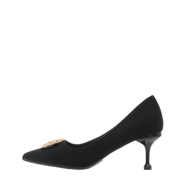sh2154 감각적인 서클 오브제 장식의 스웨이드 스틸레토힐 shoes
