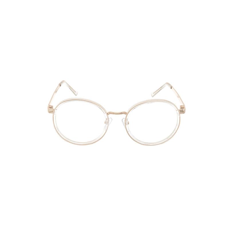 ac4866 半透明フレームビックラウンド眼鏡