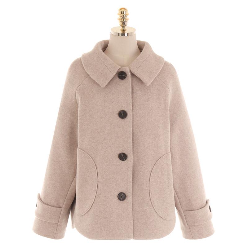jk1417 고풍스러운 플라워 레이스 안감과 보카시 소재로 제작된 카라넥 자켓 jacket