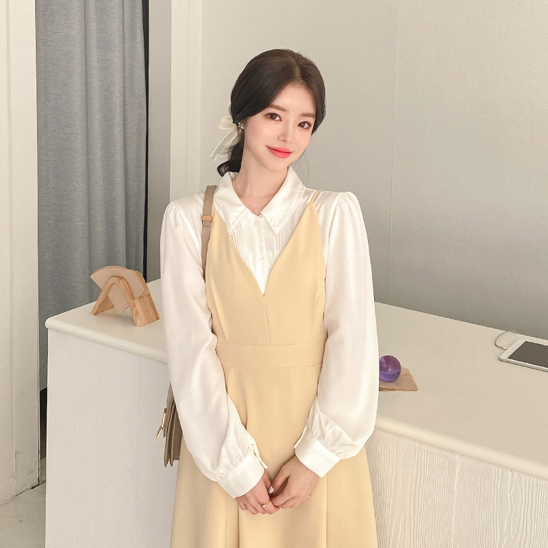 op10681 소녀감성 가득 담은 러블리한 하트넥 디자인의 플레어 뷔스티에 롱원피스 dress