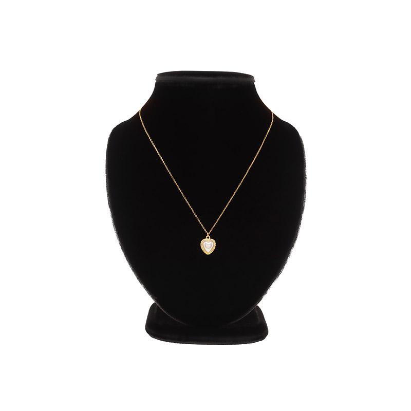 ac4880 러블리한 무드의 진주 하트 팬던트 네크리스 necklace