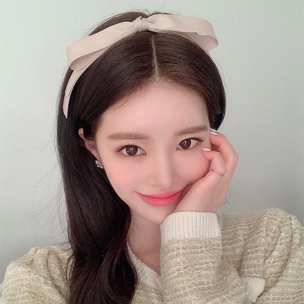 ac4875 귀여운 소녀를 연상시키는 러블리한 더블 리본끈 포인트 헤어밴드 hairband