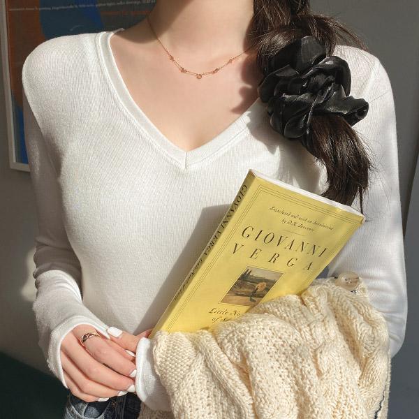 ac4876 청순한 무드를 선사해 줄 여리한 시스루 쉬폰 소재 드롭 디자인 곱창 머리끈 hairband