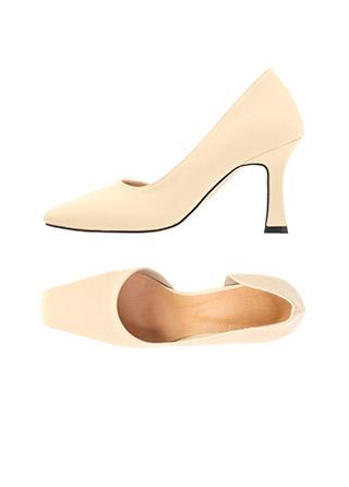 sh2202 세련된 사이드 언밸런스 트임의 스퀘어토 하이힐 shoes