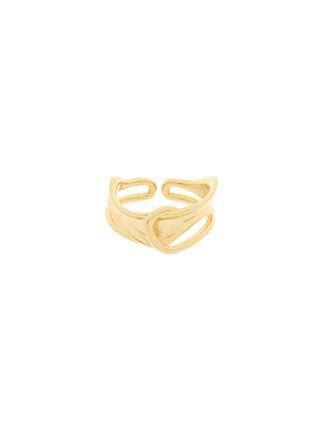 ac4891 유니크한 오픈형 트위스트 무광 써클 반지 ring