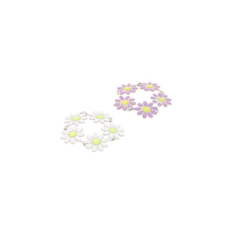 ac4897 러블리한 플라워 포인트 유니크 링 ring