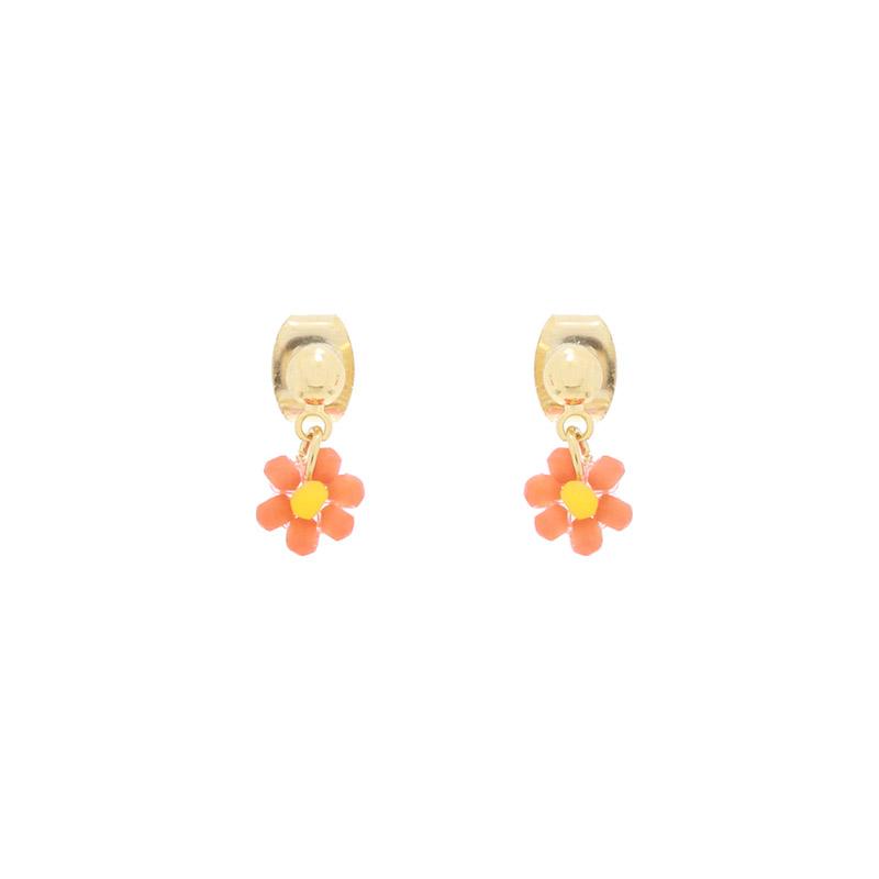 ac4901 소녀스러운 무드의 플라워 비즈 미니 이어링 earring