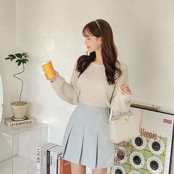 sk4627 러블리한 디자인의 세미 A라인 플리츠 미니 스커트 skirt