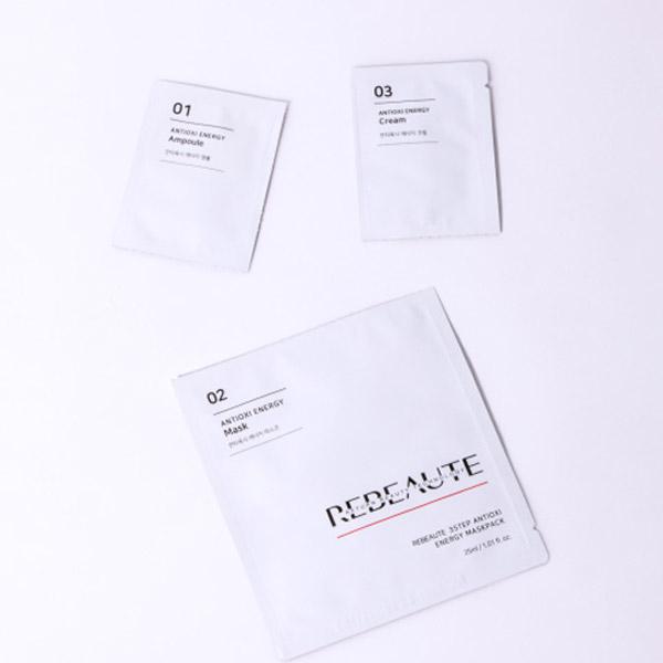 cm053 리뷰트 3스텝 안티옥시 에너지 마스크팩 *5ea ( 항산화 탄력 수분 보습 진정 )