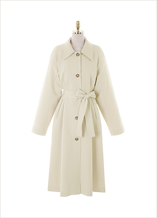 ct1317 미니멀한 디자인의 벨트 세트 나그랑 롱 트렌치코트 coat
