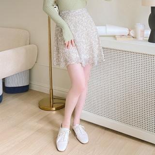 sk4662 小花柄シフォンミニスカート