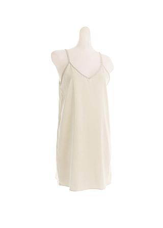 un452 편하게 입는 하늘하늘한 소재감의 V넥 끈조절 H라인 슬립 원피스 underwear