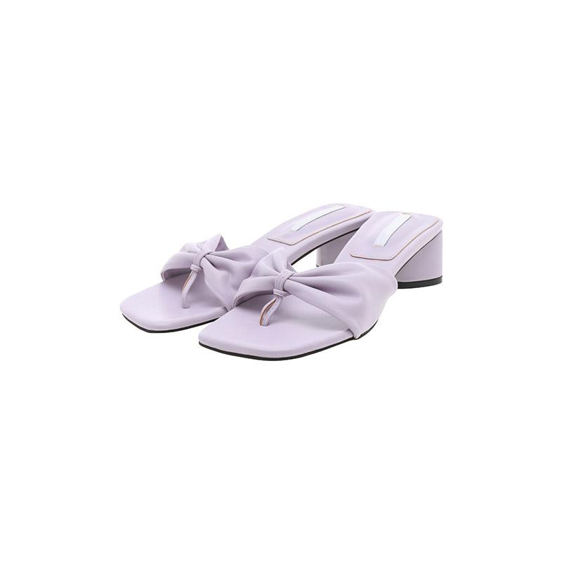 sh2300 셔링 리본이 매력적인 로맨틱한 무드의 쪼리 뮬 미들힐 shoes