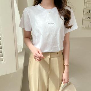 ts2515 シンプルレタリング半袖Tシャツ