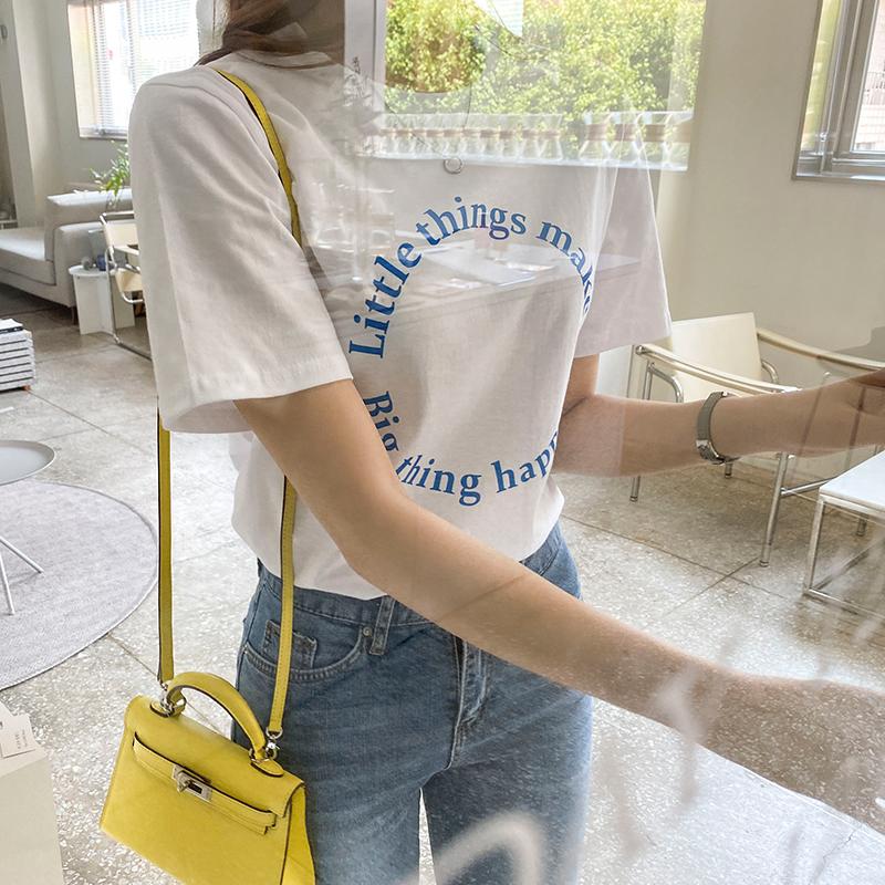 ts2727 심플 써클 레터링 반팔 티셔츠
