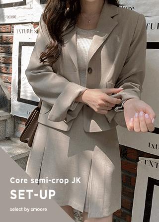 jk1673 2ボタンセミクロップテーラードジャケット