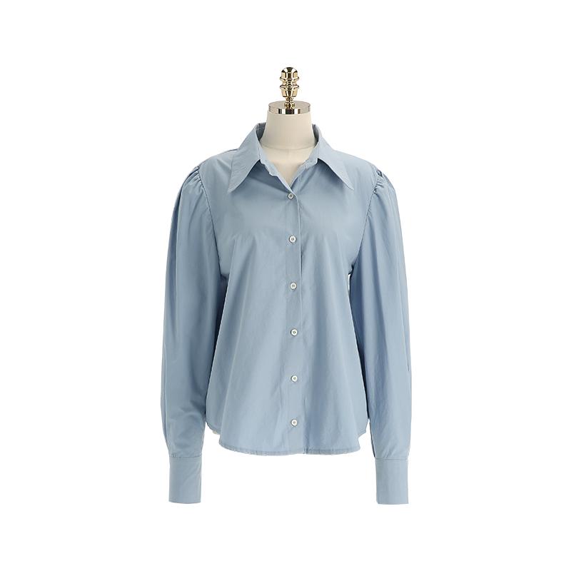 bs6501 톡톡한 터치감의 코튼패브릭으로 완성된 카라넥 셔츠 블라우스 blouse